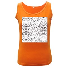 Pattern Monochrome Terrazzo Women s Dark Tank Top