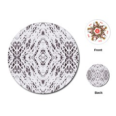 Pattern Monochrome Terrazzo Playing Cards (round)