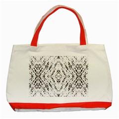 Pattern Monochrome Terrazzo Classic Tote Bag (Red)