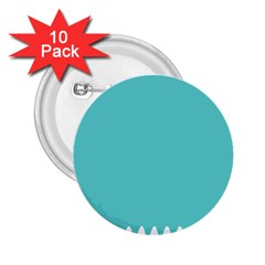 Grey Wave Water Waves Blue White 2 25  Buttons (10 Pack)