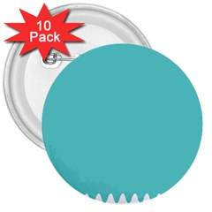 Grey Wave Water Waves Blue White 3  Buttons (10 Pack)
