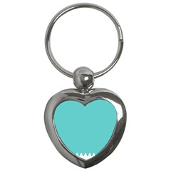Grey Wave Water Waves Blue White Key Chains (heart)
