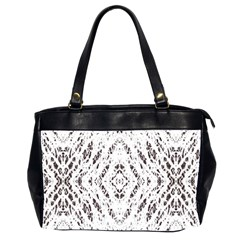 Pattern Monochrome Terrazzo Office Handbags (2 Sides)