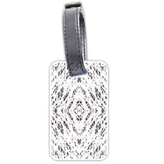 Pattern Monochrome Terrazzo Luggage Tags (one Side)