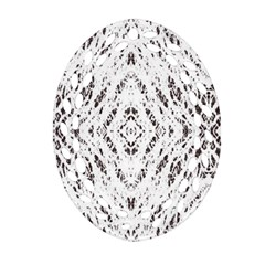 Pattern Monochrome Terrazzo Ornament (Oval Filigree)