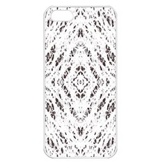 Pattern Monochrome Terrazzo Apple iPhone 5 Seamless Case (White)