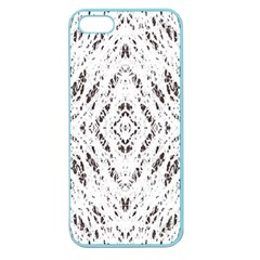 Pattern Monochrome Terrazzo Apple Seamless iPhone 5 Case (Color)