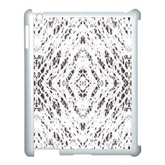 Pattern Monochrome Terrazzo Apple Ipad 3/4 Case (white)