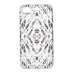 Pattern Monochrome Terrazzo Apple iPhone 4/4S Hardshell Case with Stand