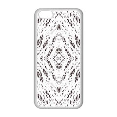 Pattern Monochrome Terrazzo Apple iPhone 5C Seamless Case (White)