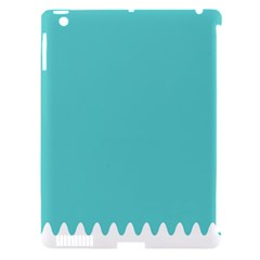 Grey Wave Water Waves Blue White Apple Ipad 3/4 Hardshell Case (compatible With Smart Cover)