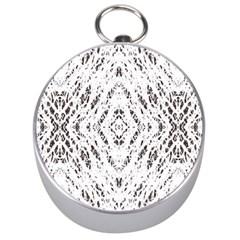 Pattern Monochrome Terrazzo Silver Compasses