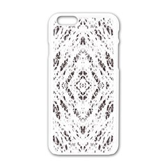Pattern Monochrome Terrazzo Apple Iphone 6/6s White Enamel Case