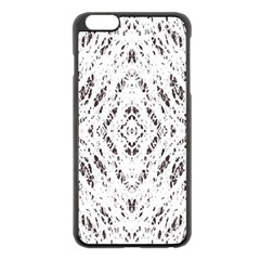 Pattern Monochrome Terrazzo Apple iPhone 6 Plus/6S Plus Black Enamel Case