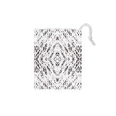 Pattern Monochrome Terrazzo Drawstring Pouches (XS)