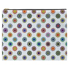 Flowers Color Artwork Vintage Modern Star Lotus Sunflower Floral Rainbow Cosmetic Bag (xxxl)