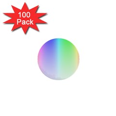 Layer Light Rays Rainbow Pink Purple Green Blue 1  Mini Buttons (100 Pack)