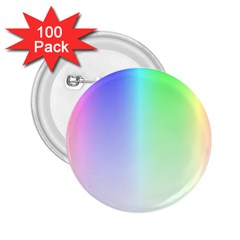 Layer Light Rays Rainbow Pink Purple Green Blue 2 25  Buttons (100 Pack)