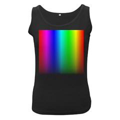 Layer Light Rays Rainbow Pink Purple Green Blue Women s Black Tank Top