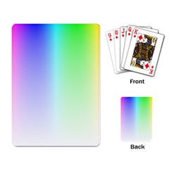 Layer Light Rays Rainbow Pink Purple Green Blue Playing Card