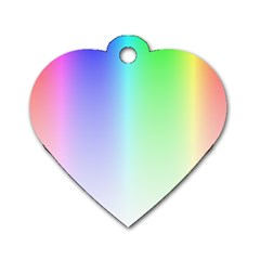 Layer Light Rays Rainbow Pink Purple Green Blue Dog Tag Heart (one Side)