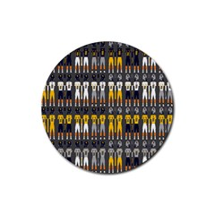 Football Uniforms Team Clup Sport Rubber Round Coaster (4 Pack)