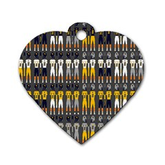 Football Uniforms Team Clup Sport Dog Tag Heart (two Sides)