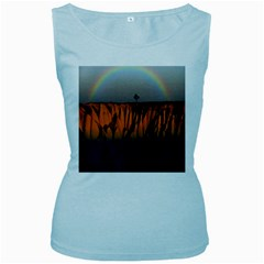 Rainbows Landscape Nature Women s Baby Blue Tank Top