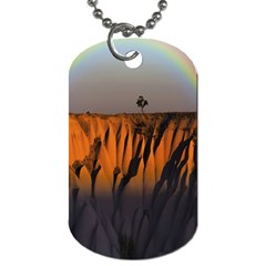 Rainbows Landscape Nature Dog Tag (two Sides)
