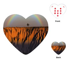 Rainbows Landscape Nature Playing Cards (heart)