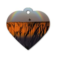 Rainbows Landscape Nature Dog Tag Heart (one Side)