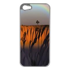 Rainbows Landscape Nature Apple iPhone 5 Case (Silver)