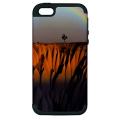 Rainbows Landscape Nature Apple Iphone 5 Hardshell Case (pc+silicone)