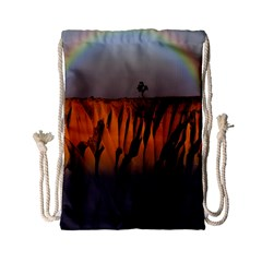 Rainbows Landscape Nature Drawstring Bag (small)