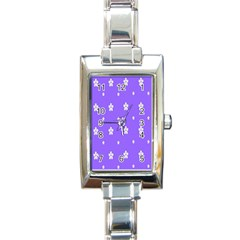 Light Purple Flowers Background Images Rectangle Italian Charm Watch