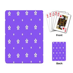 Light Purple Flowers Background Images Playing Card