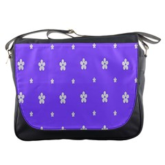 Light Purple Flowers Background Images Messenger Bags