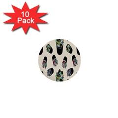 Succulent Plants Pattern Lights 1  Mini Buttons (10 Pack)