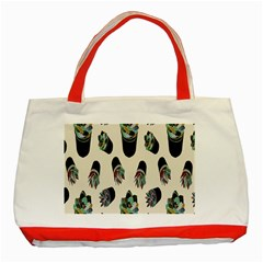 Succulent Plants Pattern Lights Classic Tote Bag (red)