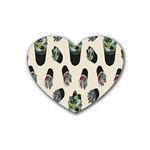 Succulent Plants Pattern Lights Heart Coaster (4 pack)  Front
