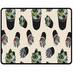 Succulent Plants Pattern Lights Fleece Blanket (medium)