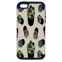 Succulent Plants Pattern Lights Apple iPhone 5 Hardshell Case (PC+Silicone)
