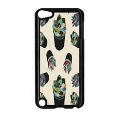 Succulent Plants Pattern Lights Apple iPod Touch 5 Case (Black)