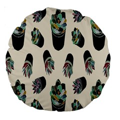 Succulent Plants Pattern Lights Large 18  Premium Round Cushions