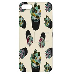 Succulent Plants Pattern Lights Apple iPhone 5 Hardshell Case with Stand