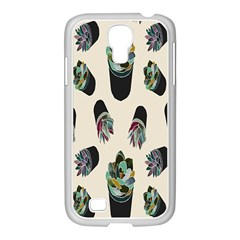 Succulent Plants Pattern Lights Samsung Galaxy S4 I9500/ I9505 Case (white)