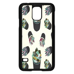 Succulent Plants Pattern Lights Samsung Galaxy S5 Case (Black)