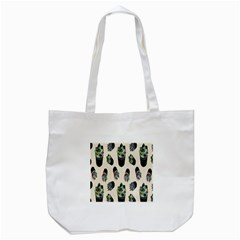 Succulent Plants Pattern Lights Tote Bag (white)