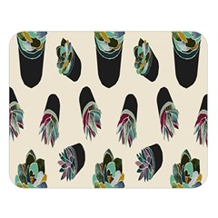 Succulent Plants Pattern Lights Double Sided Flano Blanket (large)