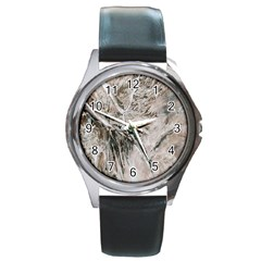 Earth Landscape Aerial View Nature Round Metal Watch
